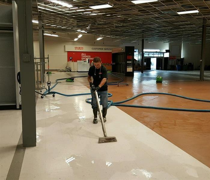 Burst Pipe Floods Large Retail Store Before