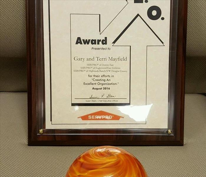 2016 C.E.O. Award from SERVPRO Industries