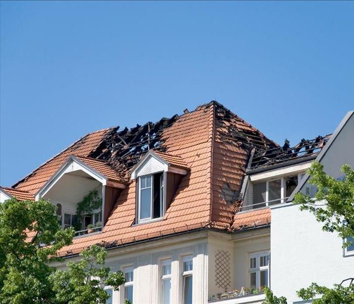Why SERVPRO How To Deal With a Burned Roof Following a Fire